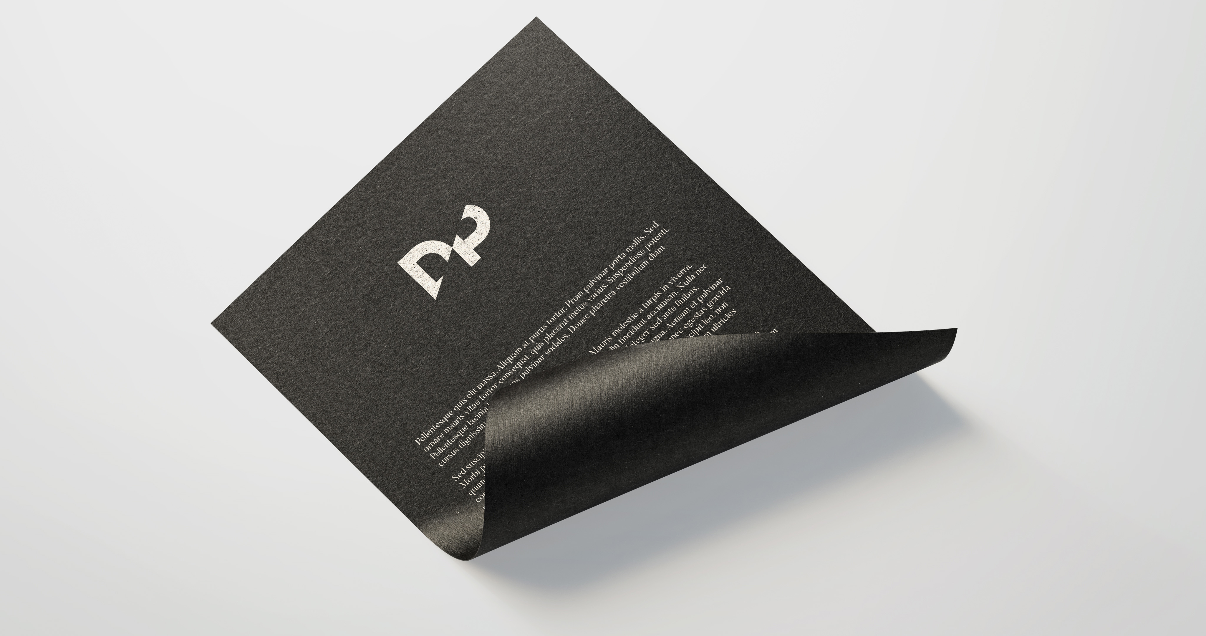 Dot Productions Paper Logo Branding Detail by tuhomuho