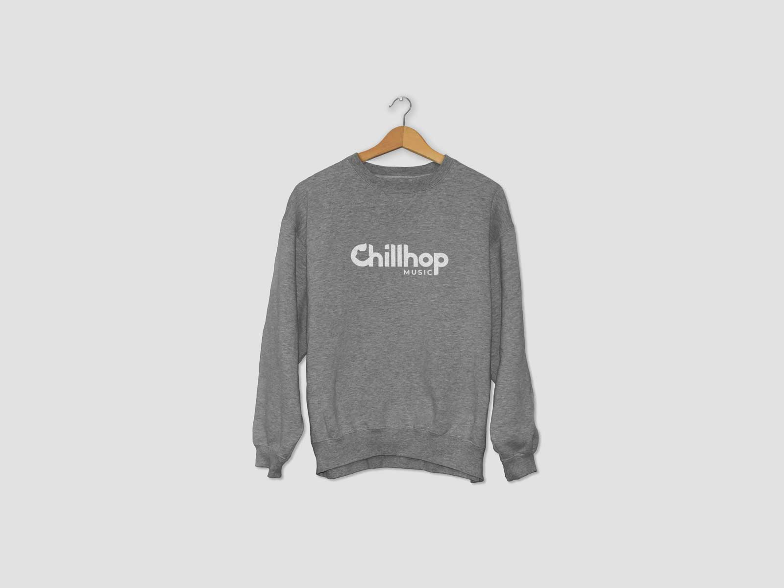 chillhop music new logo jumper shirt branding
