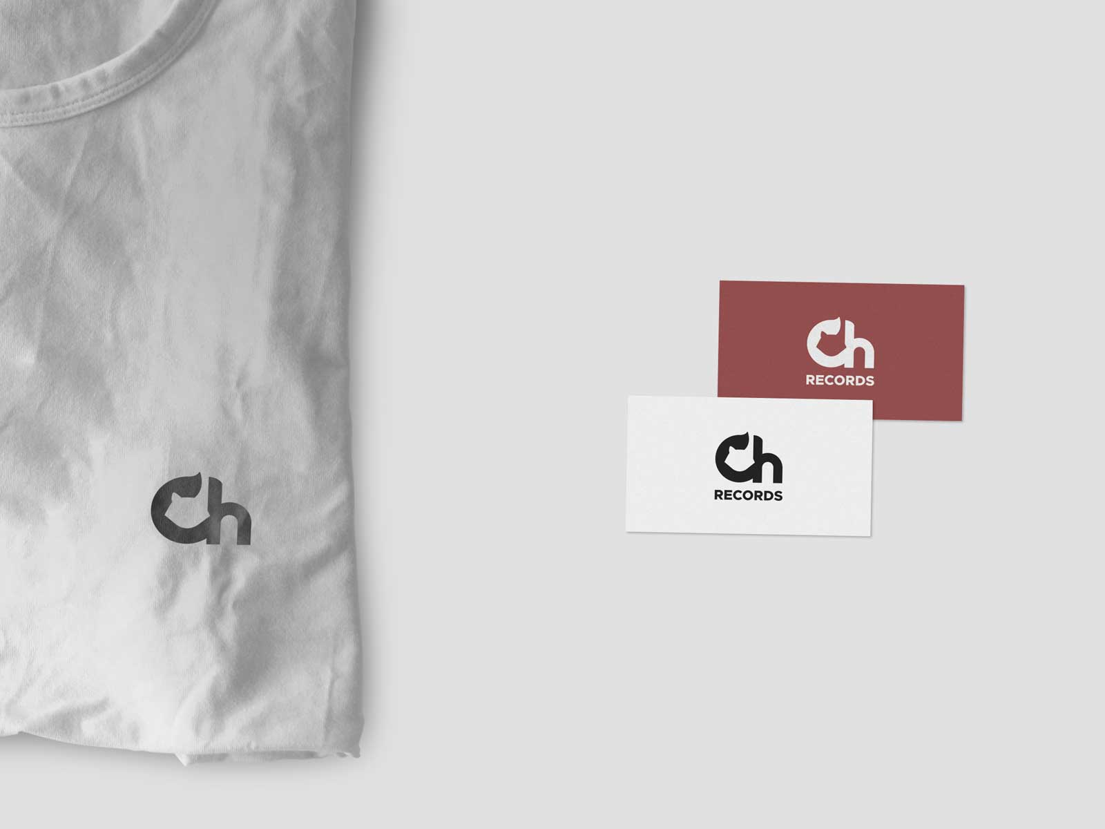 chillhop records new logo shirt business cards branding