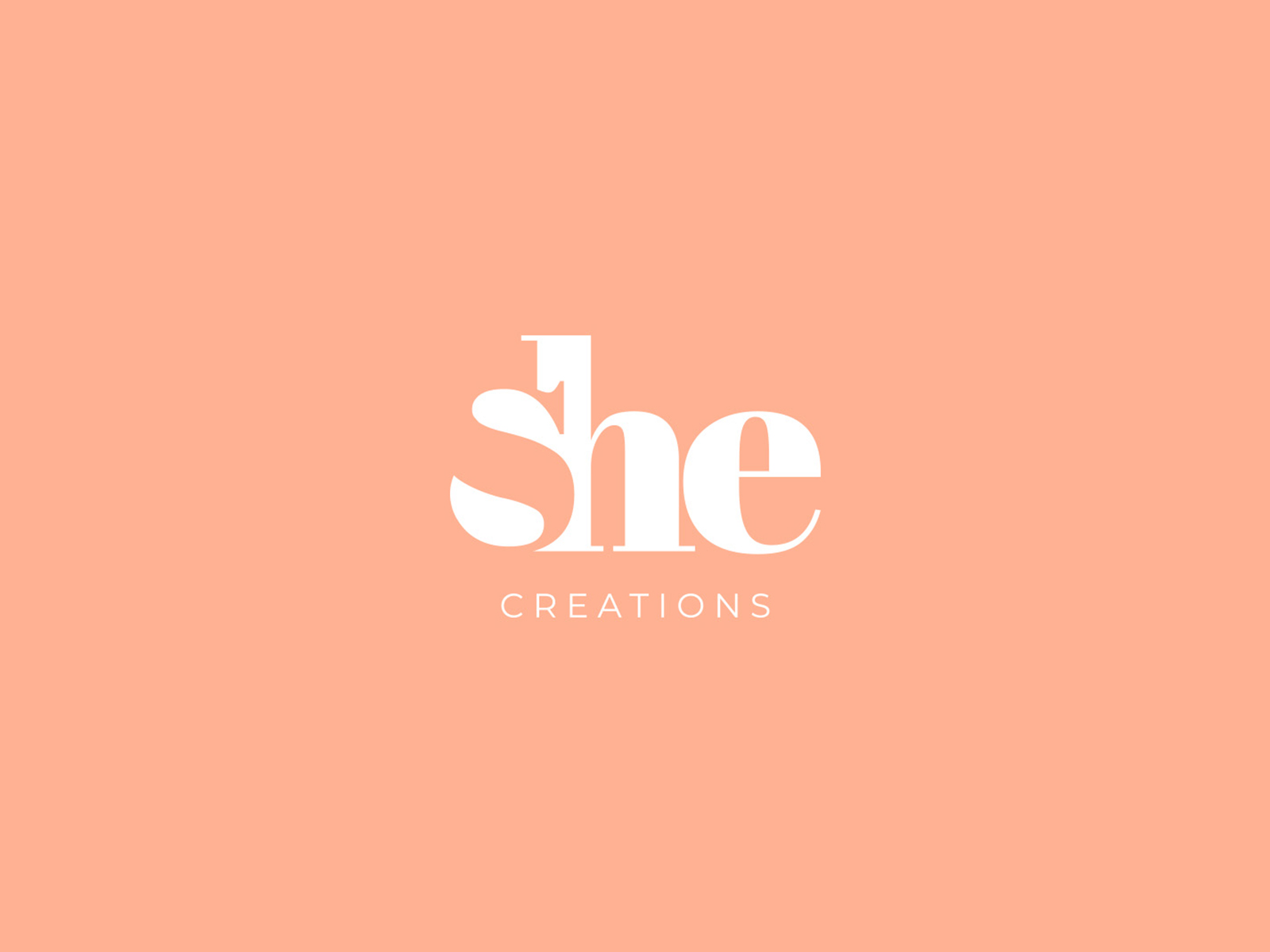 She creations negative space vegan logo branding