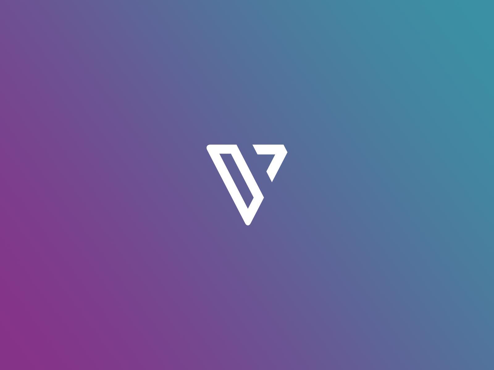 verifa V logo icon branding design