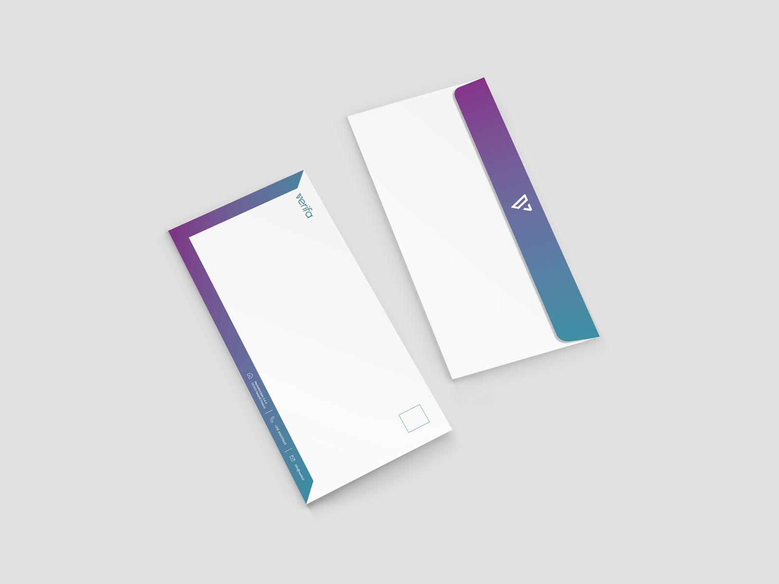 verifa envelope stationery branding design