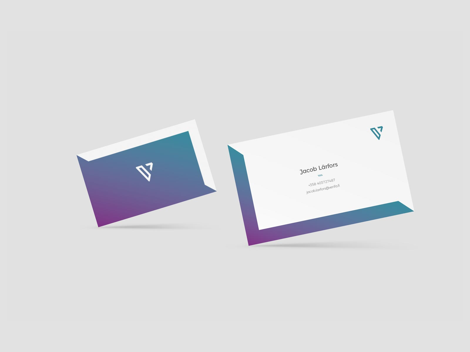 verifa business cards branding design