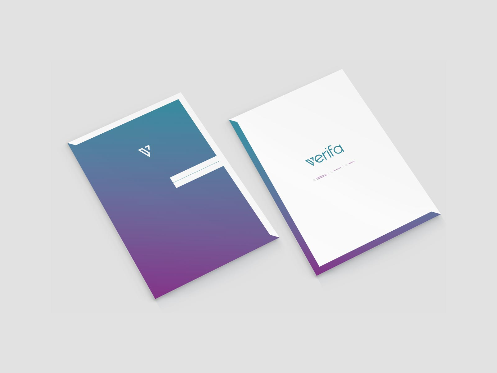 verifa folder stationery branding design