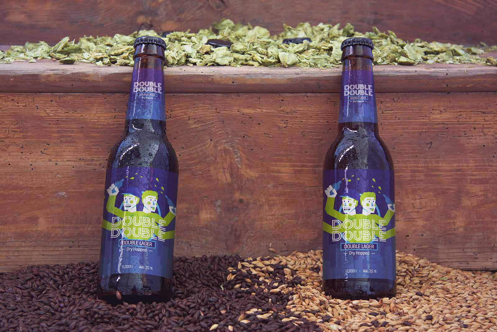 Hop Hunters Beer Bottle packaging label design