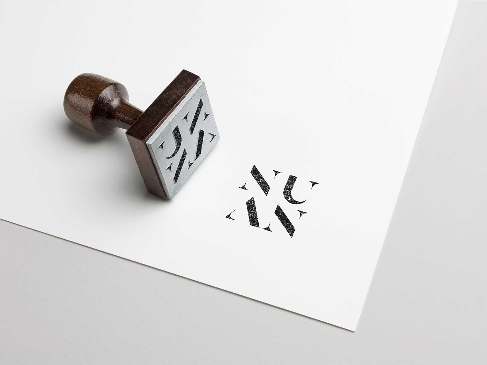 Nuan interior design logo branding design stamp