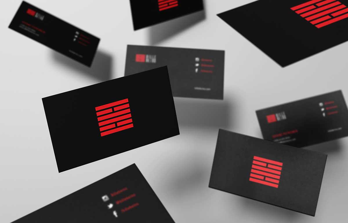 billebeino business card design