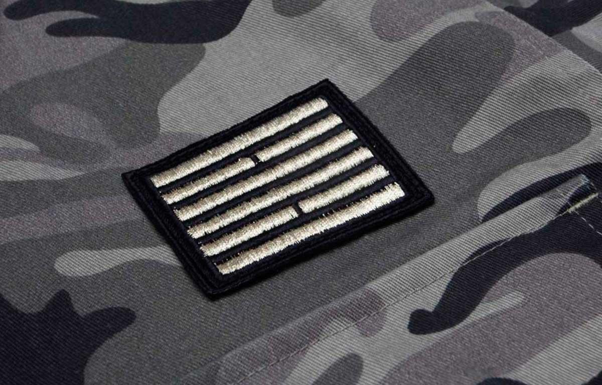 billebeino camo jacket logo