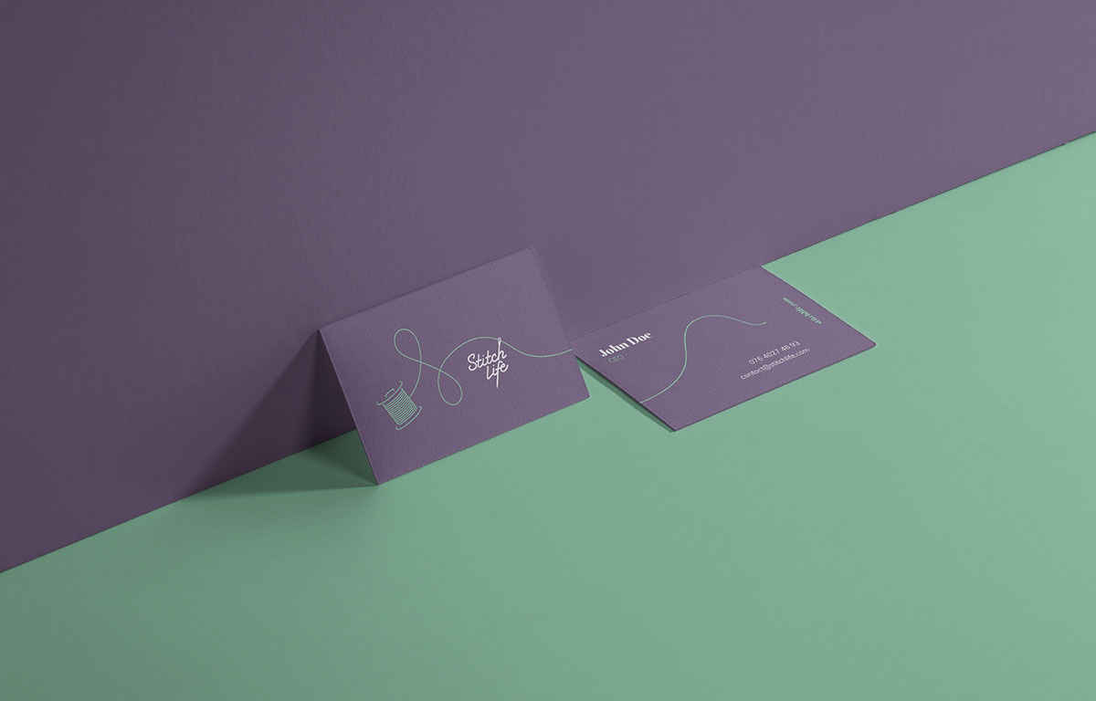 Stitch Life Business Cards Print Design