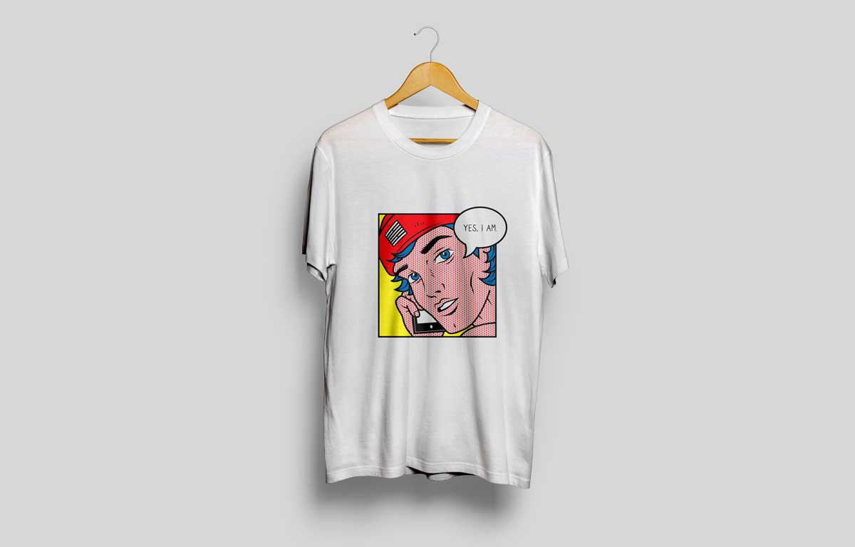 Billebeino Pop Art Man T-Shirt Design